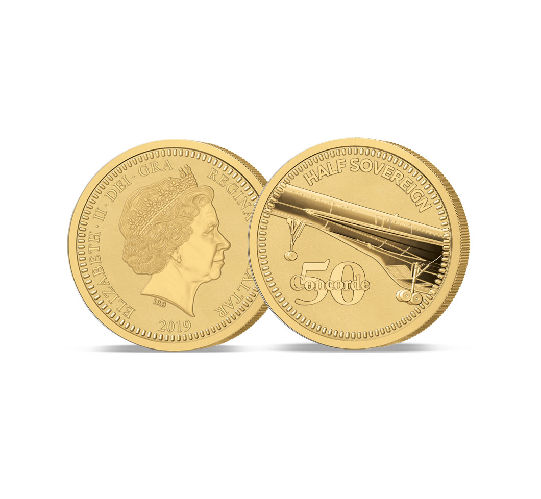The Concorde 50th Anniversary Gold Half Sovereign