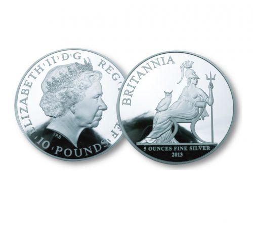 The Queen Elizabeth II Silver Five Ounce Coin