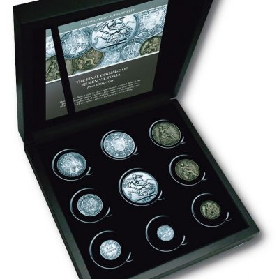 The Queen Victoria Veiled Portrait Nine Coin Silver and Bronze Set