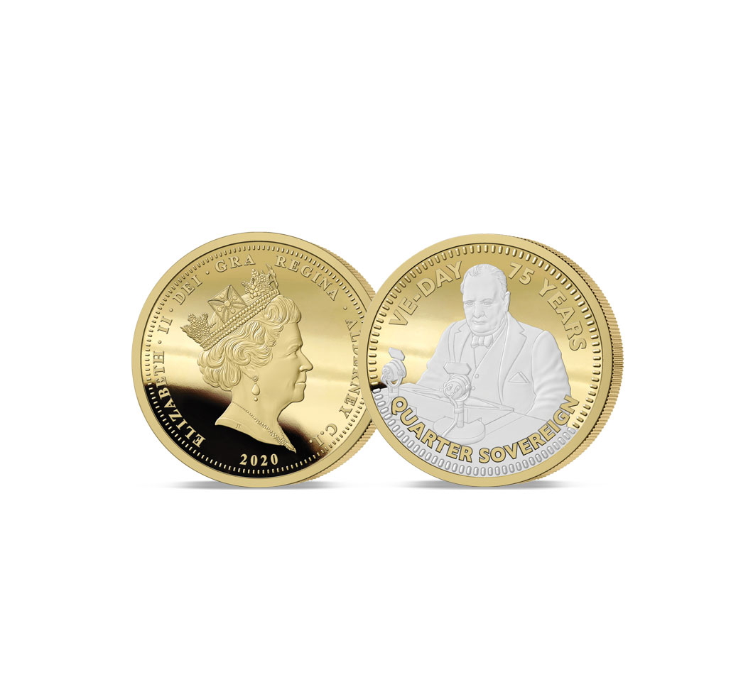 The 2020 VE-Day 75th Anniversary Gold Quarter Sovereign