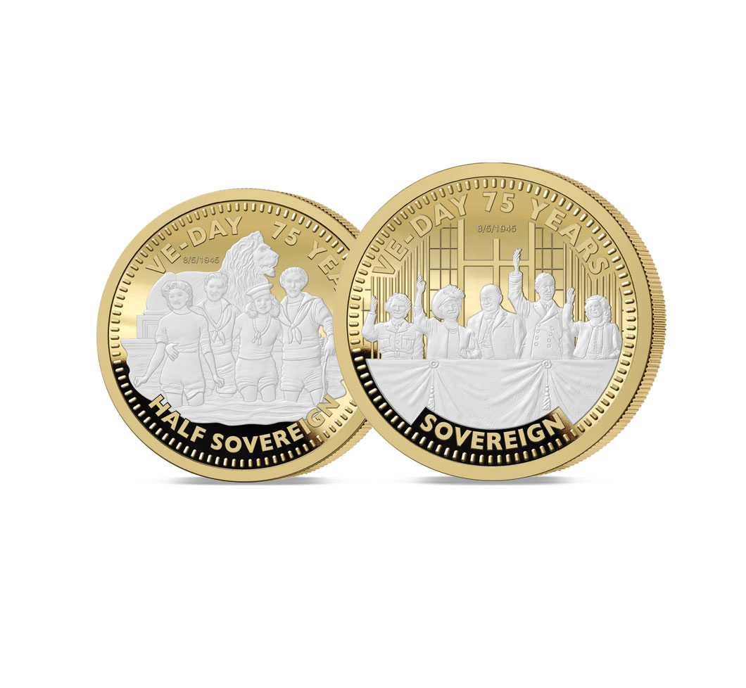 The 2020 VE Day 75th Anniversary Half and Full Sovereign Set