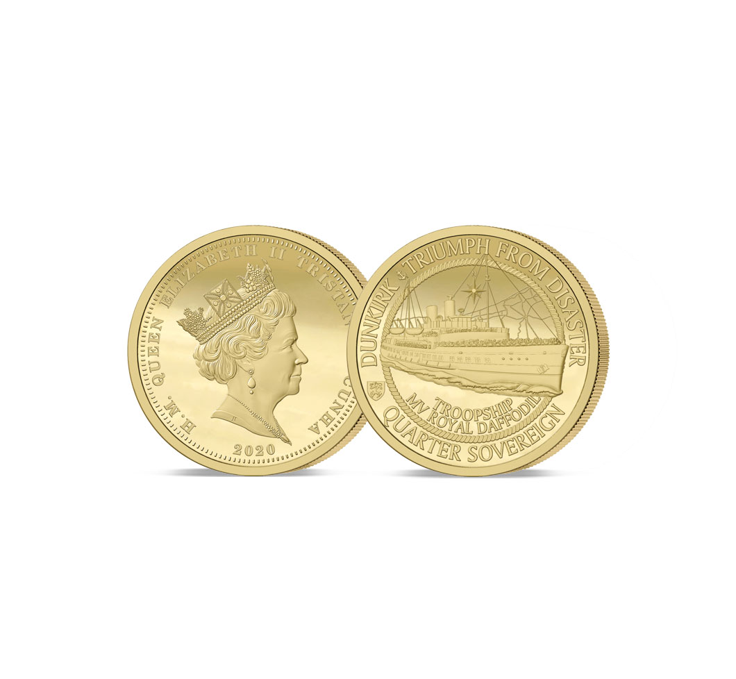 The 2020 Dunkirk 80th Anniversary Gold Quarter Sovereign