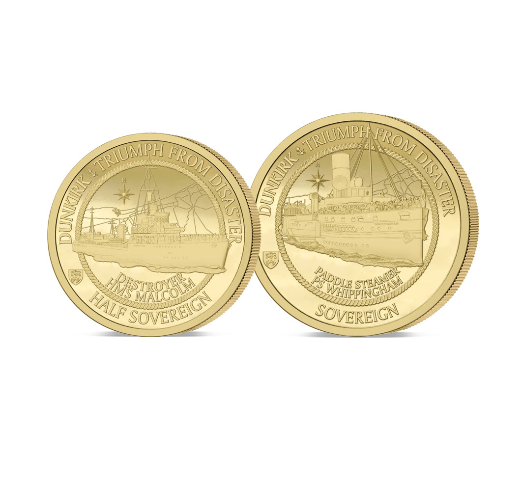 The Dunkirk 80th Anniversary Gold Half and Full Sovereign Set