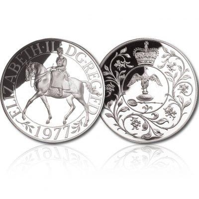 Queen Elizabeth II 1977 Silver Crown