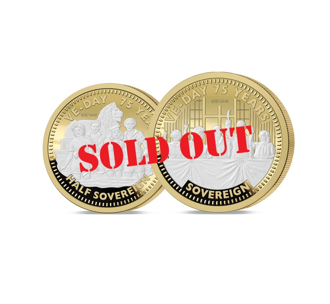 The VE Day 75th Anniversary Gold Half and Full Sovereign Set - SOLD OUT