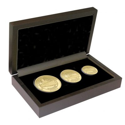 The 2020 Dunkirk 80th Anniversary Gold Prestige Sovereign Set in it's presentation box