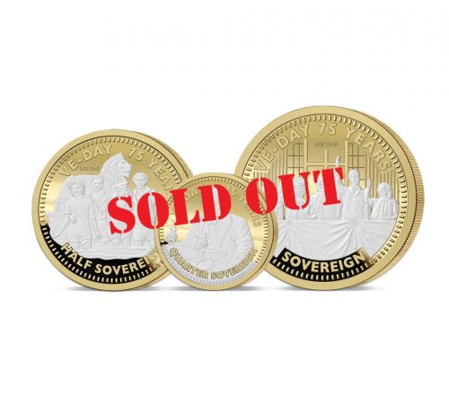 The VE Day 75th Anniversary Gold Prestige Sovereign Set - SOLD OUT