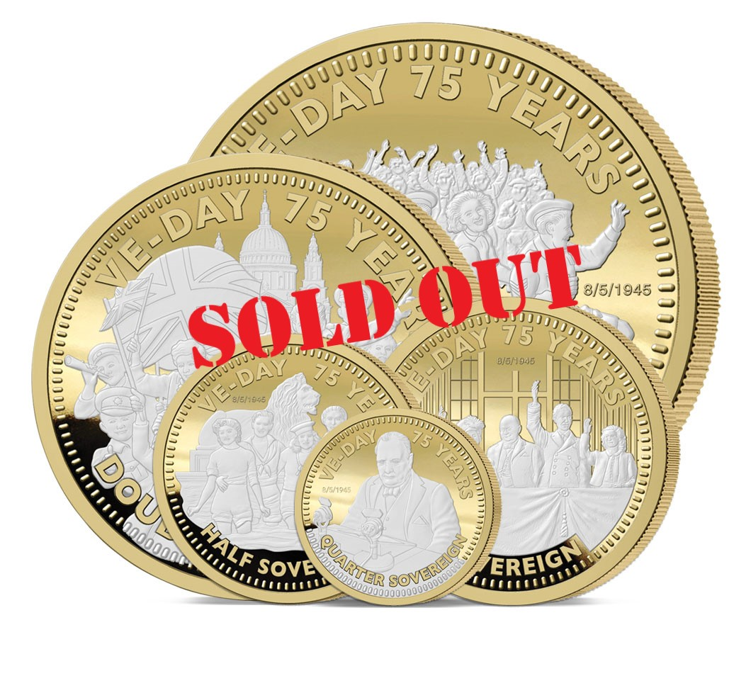 The VE Day 75th Anniversary Gold Sovereign Range has sold out
