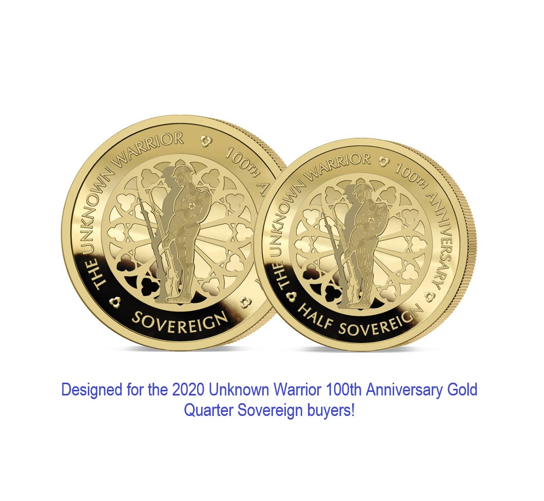 The 2020 Unknown Warrior 100th Anniversary Gold Infill Set