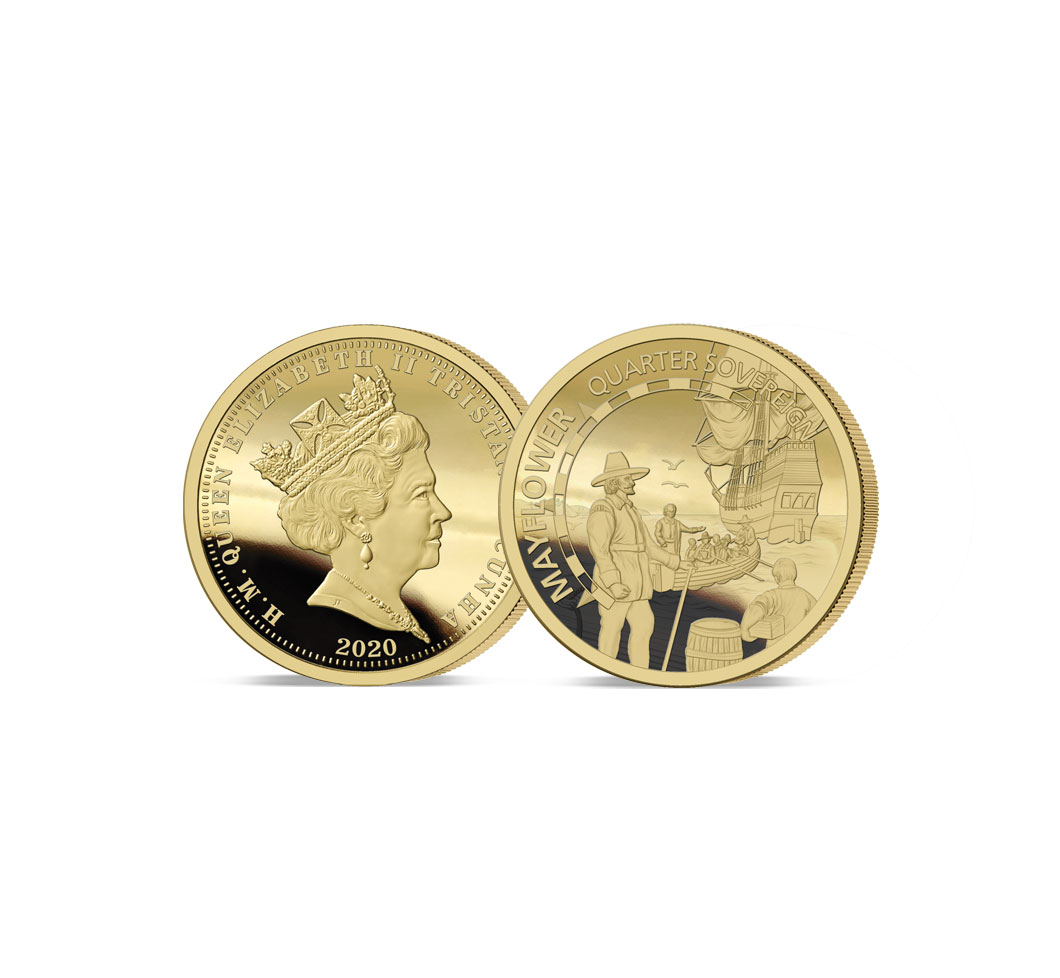 The 2020 Mayflower 400th Anniversary Gold Proof Quarter Sovereign