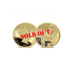 The 2020 Mayflower 400th Anniversary Gold Proof Quarter Sovereign - SOLD OUT