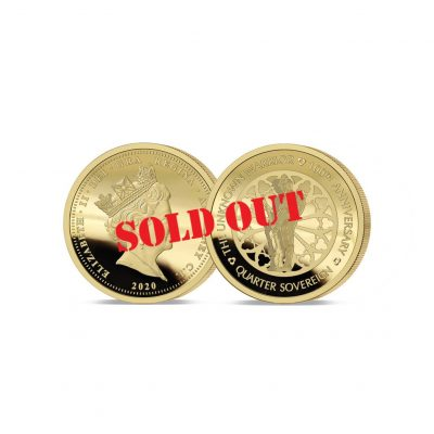 The 2020 Unknown Warrior 100th Anniversary Gold Quarter Sovereign SOLD OUT