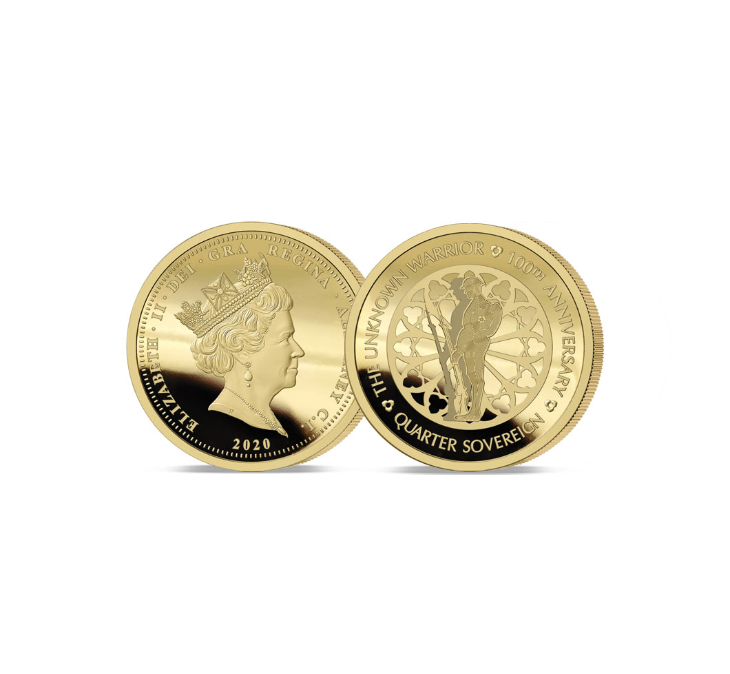 The 2020 Unknown Warrior 100th Anniversary Gold Quarter Sovereign