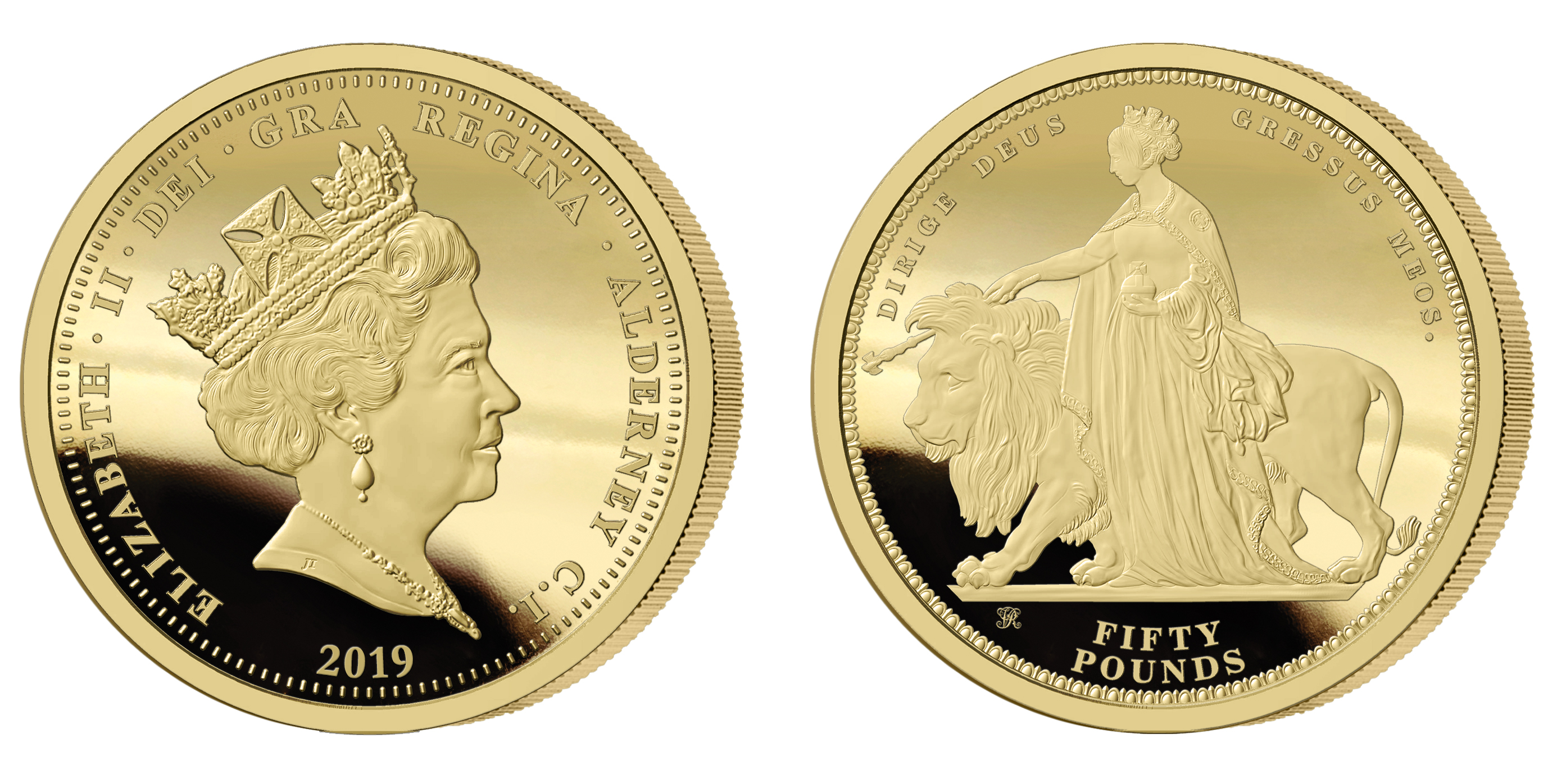 The 2019 Queen Victoria 200th Anniversary 24 carat Gold Fifty Pound Sovereign