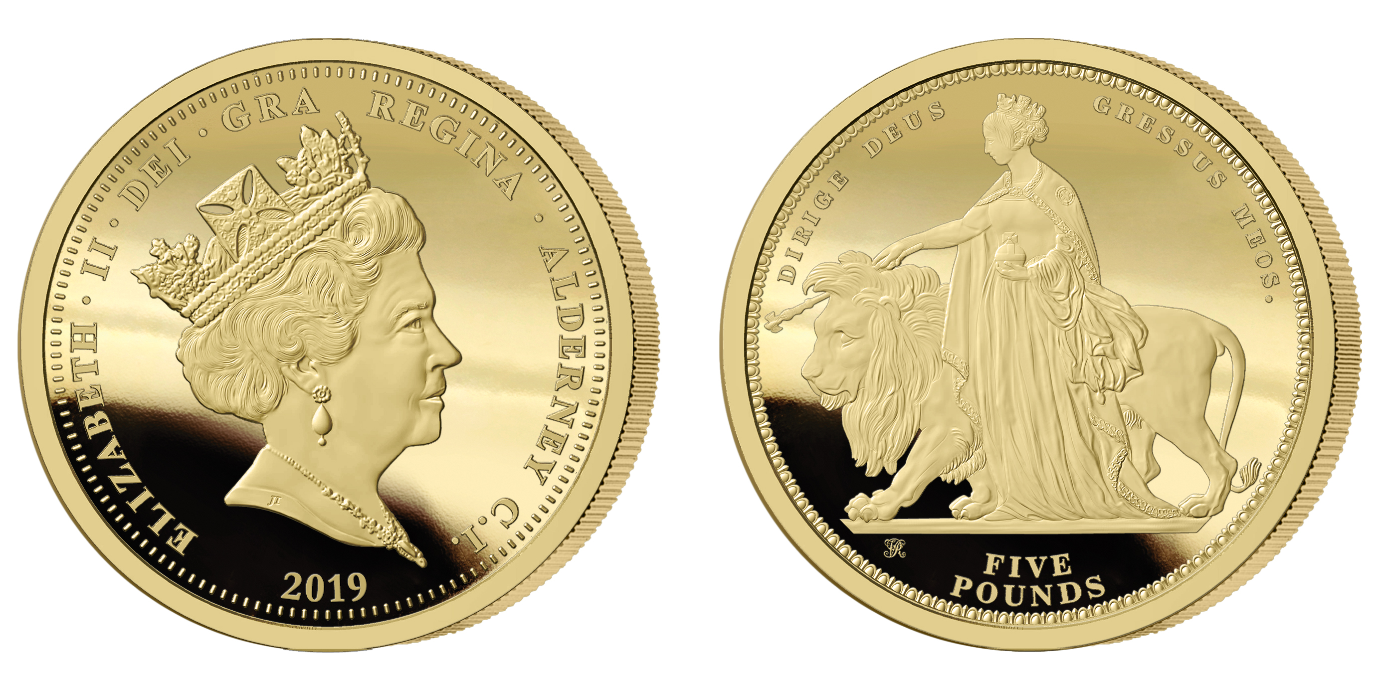 The 2019 Queen Victoria 200th Anniversary 24 Carat Gold Five Pound Sovereign