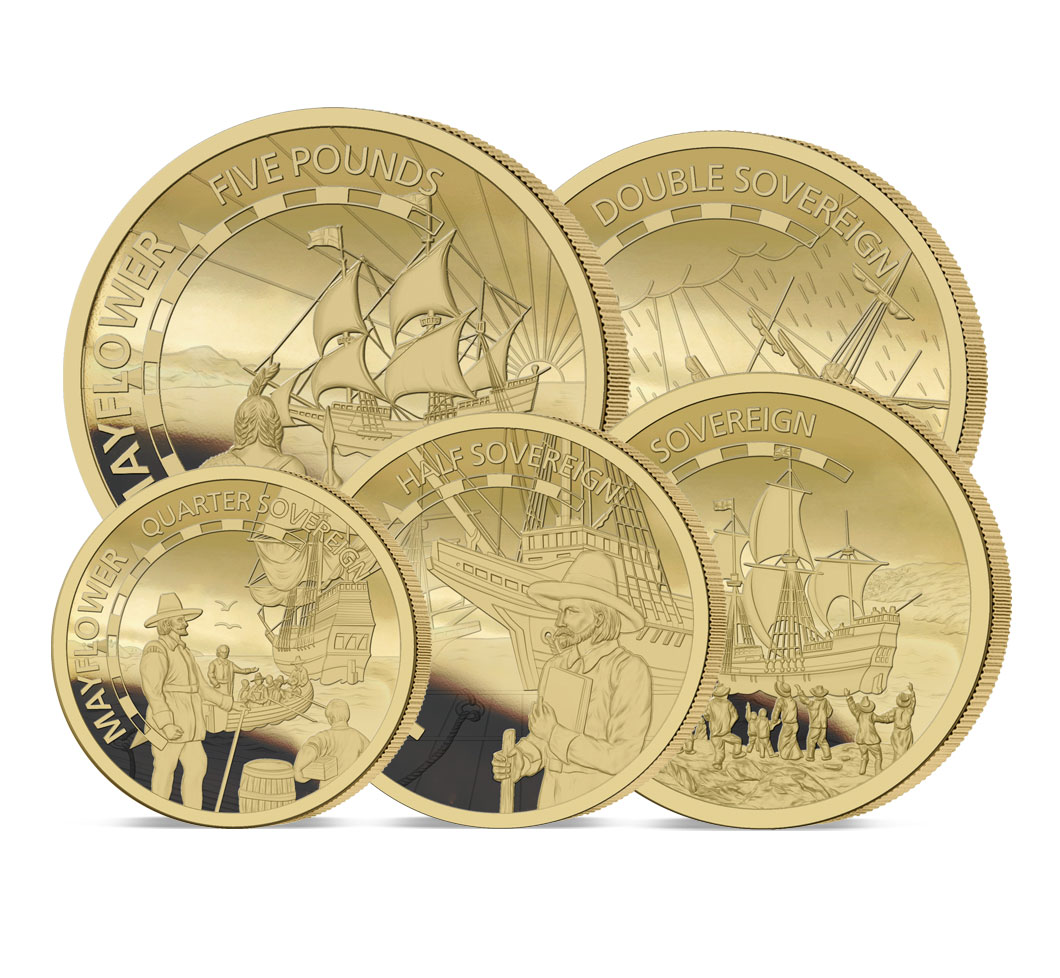The 2020 Mayflower 400th Anniversary Gold Definitive Set