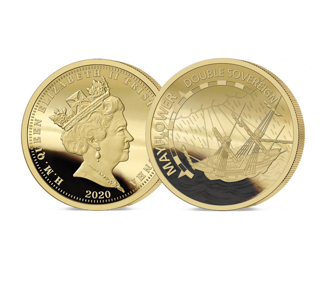 The 2020 Mayflower 400th Anniversary Gold Double Sovereign