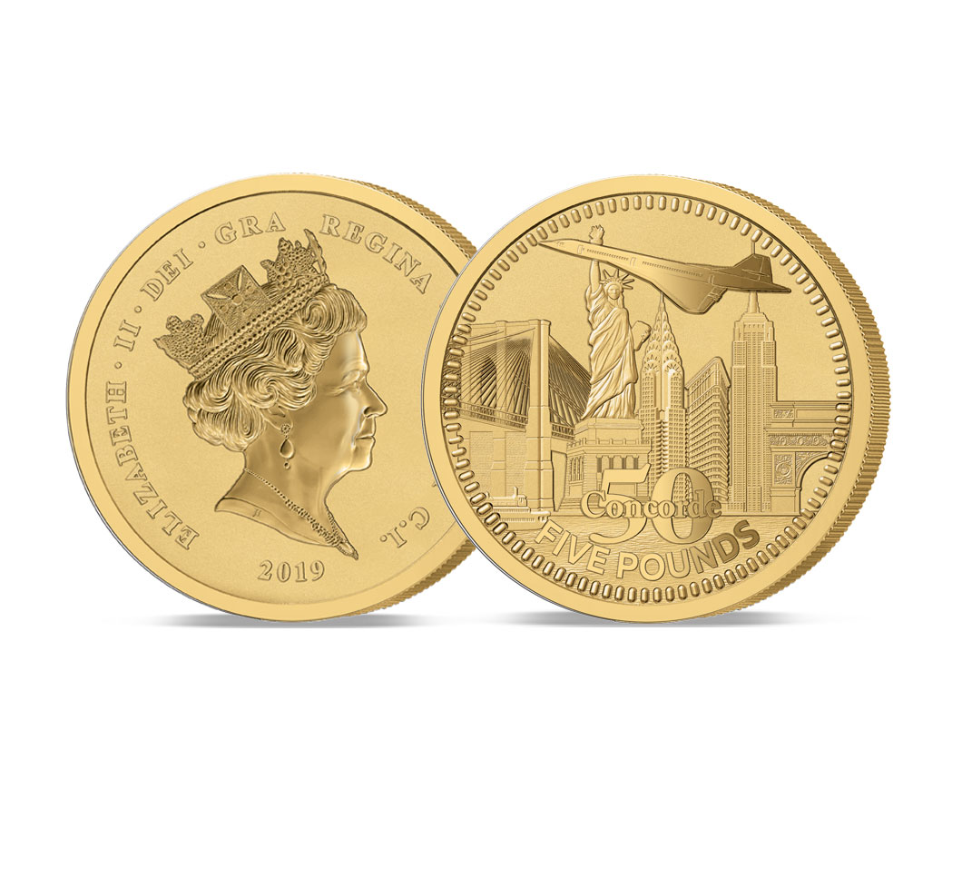 The 2019 Concorde 50th Anniversary Gold Five Pound Sovereign