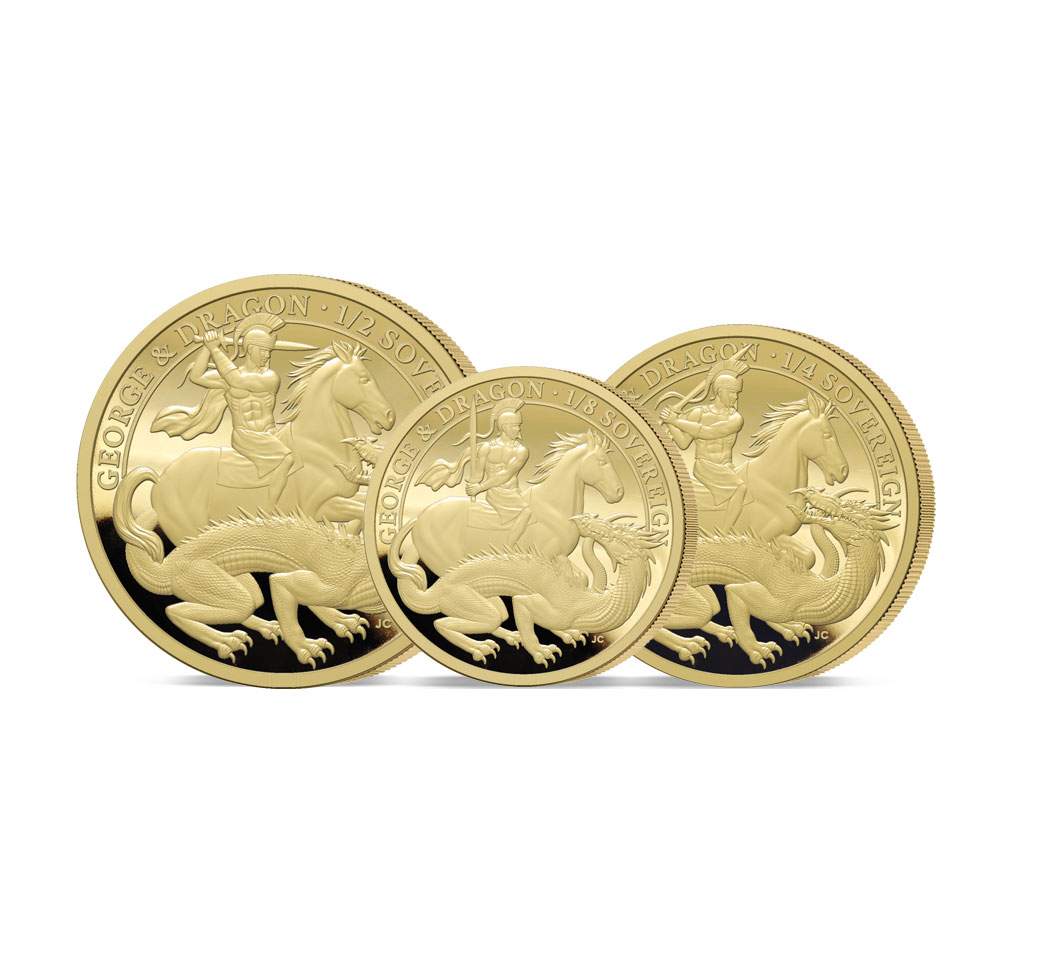 The 2021 George and the Dragon 200th Anniversary Gold Fractional Sovereign Set