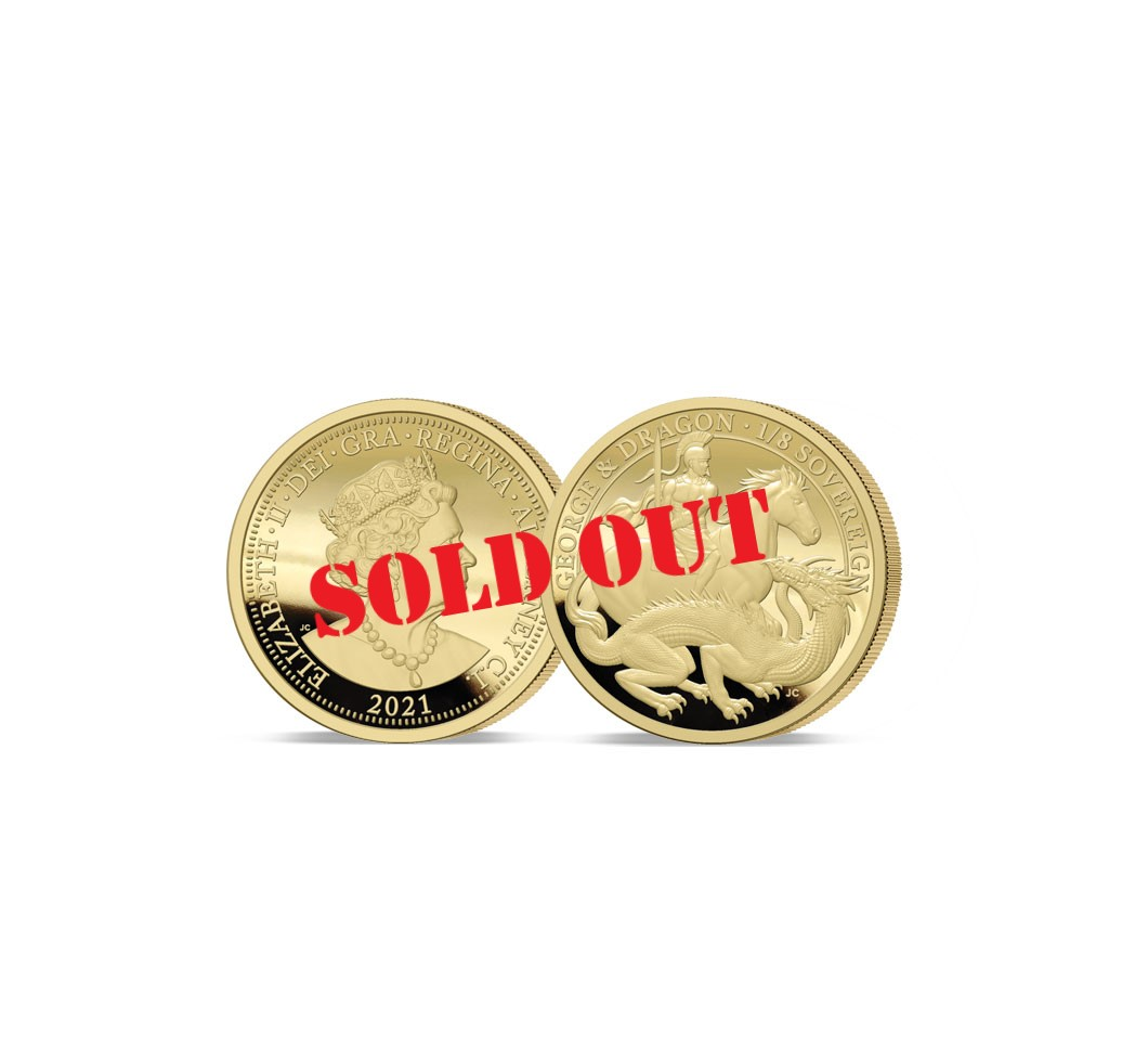 The 2021 George and the Dragon 200th Anniversary Gold Quarter Sovereign - SOLD OUT