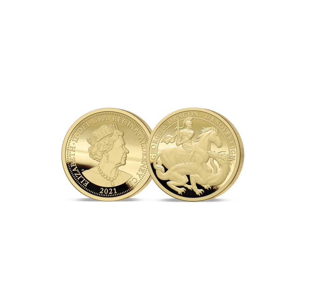 The 2021 George and the Dragon 200th Anniversary Gold Quarter Sovereign