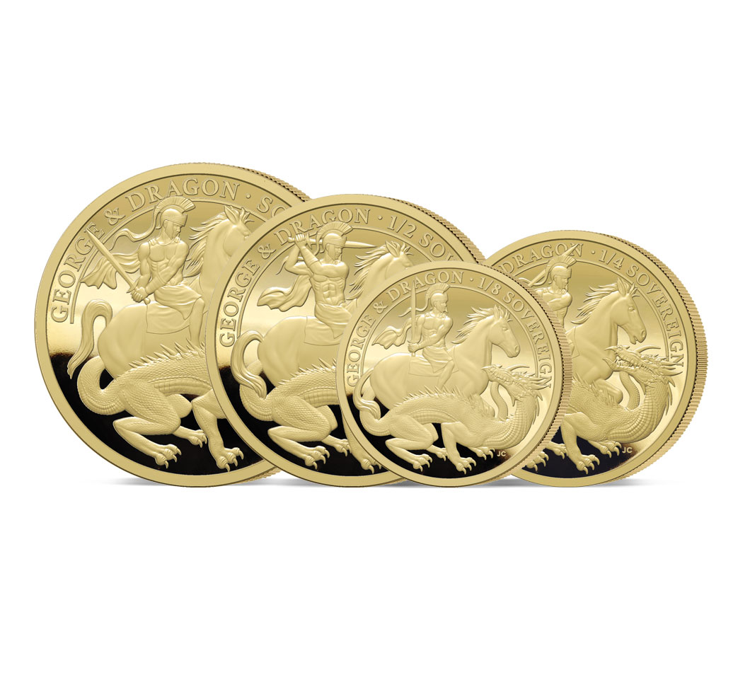 The 2021 George and the Dragon 200th Anniversary Gold Proof Sovereign Set