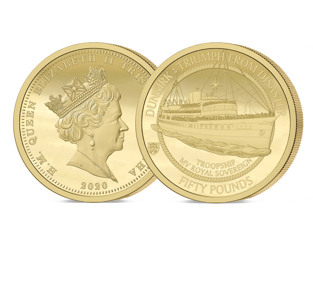 The 2020 Dunkirk 80th Anniversary Gold £50 Sovereign