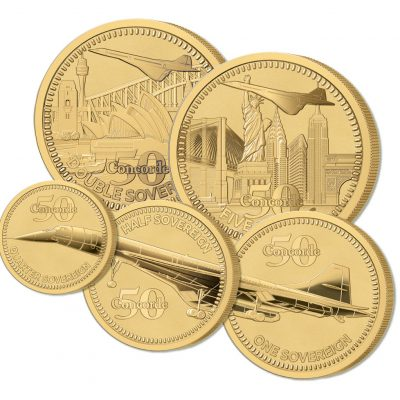 The 2019 Concorde 50th Anniversary Gold Definitive Proof Sovereign Set
