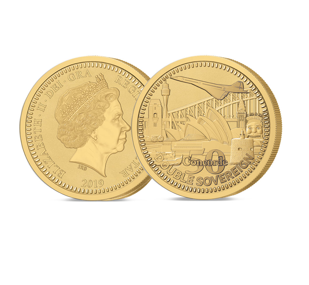The 2019 Concorde 50th Anniversary Gold Double Sovereign