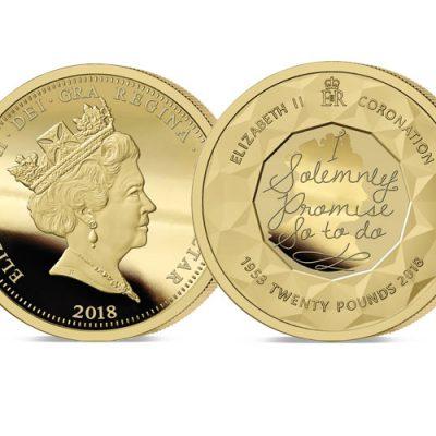 The 2018 Sapphire COronation Jubilee £20 Sovereign