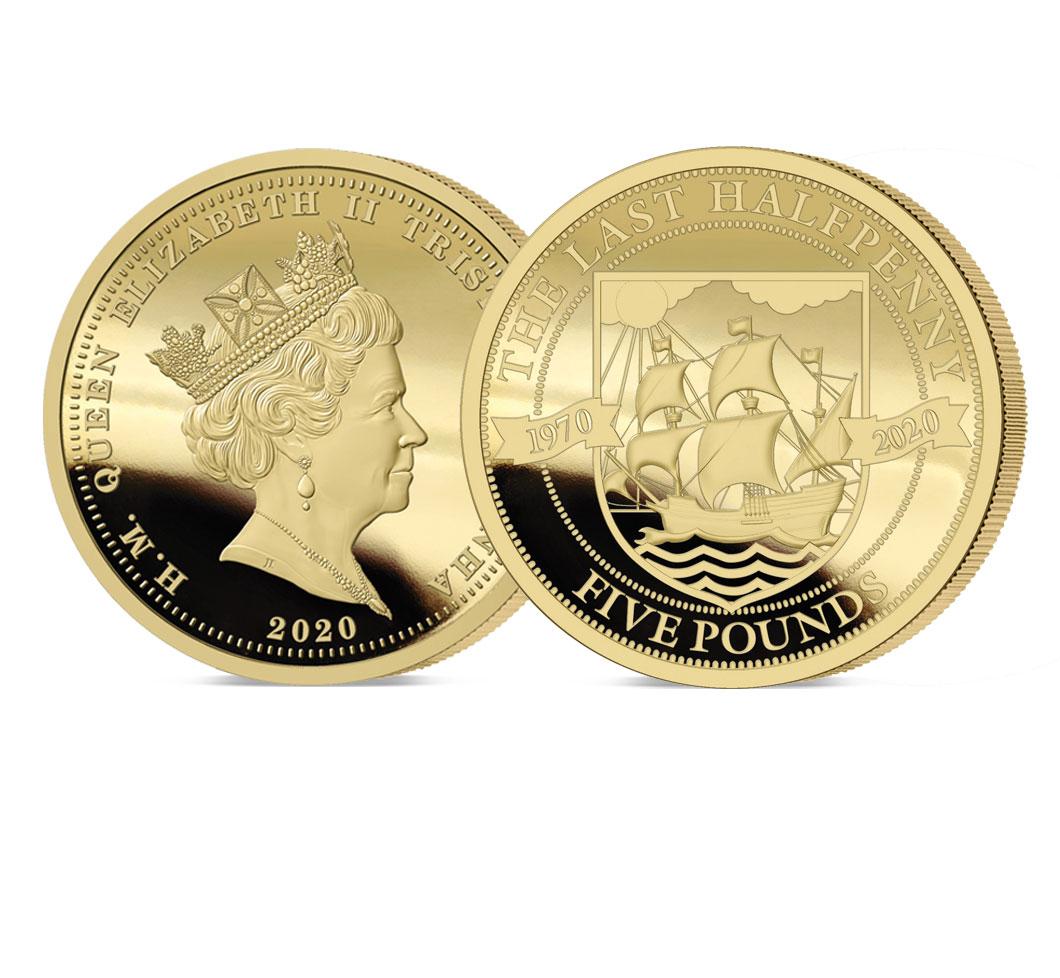 The 2020 Pre-decimal 50th Anniversary Gold Five Sovereign