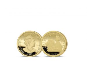 The 2021 Queen's 95th Birthday 24 Carat Gold One Eighth Sovereign