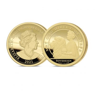 The 2021 Queen's 95th Birthday 24 Carat Gold Sovereign
