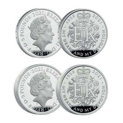 The Queen Elizabeth II 2021 95th Birthday Commemorative Silver Set