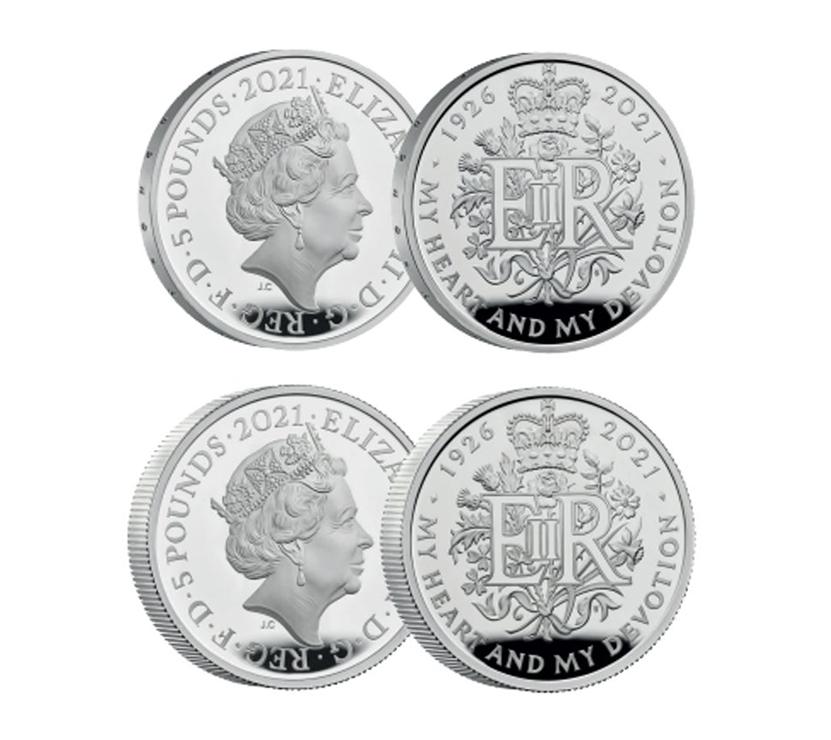 The Queen Elizabeth II 2021 95th Birthday Commemorative Silver Set
