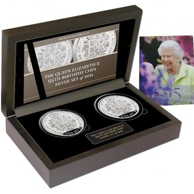 The Queen Elizabeth II 2021 95th Birthday Commemorative Silver and Silver Set
