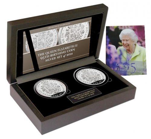 The Queen Elizabeth II 2021 95th Birthday Commemorative Silver and Silver Set