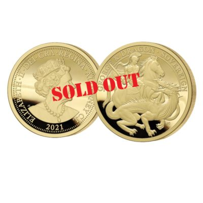 The 2021 George and the Dragon 200th Anniversary Gold Sovereign SOLD OUT