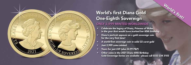 Diana 60th birthday one-eighth sovereign