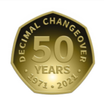 Decimal Changeover 50 Years Logo