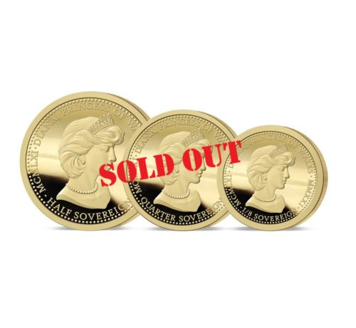 The 2021 Diana 60th Birthday Gold Fractional Sovereign Set SOLD OUT