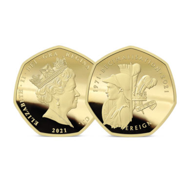 The 2021 50th Anniversary of Decimalisation Gold Sovereign
