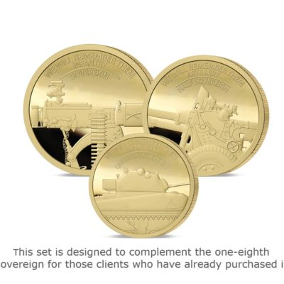 We Will Remember Them Prestige Infill Gold Sovereign Set