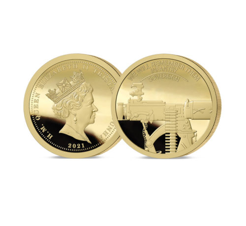 We Will Remember Them Gold Sovereign